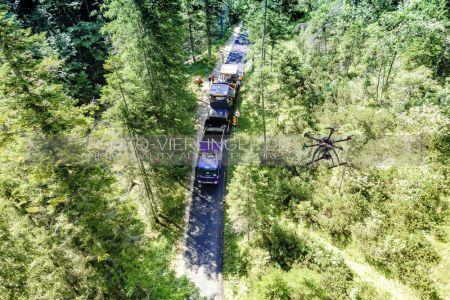 Luftaufnahme Teerarbeiten Natiionalpark Berchtesgaden Hirschbichlstrasse