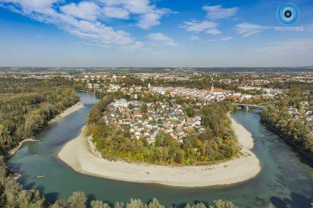 Luftaufnahme Innschleife Mühldorf