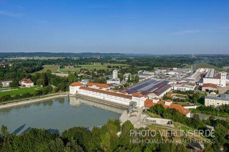 Luftaufnahme Wasserschloss Töging