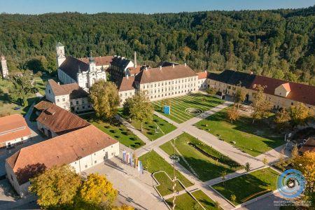 Luftaufnahme Klosteranlage Raitenhaslach