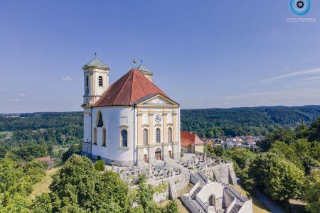 Luftaufnahme Wallfahrtskirche Marienberg