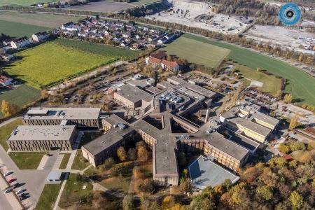 Luftaufnahme Kreisklinik Altötting mit Neubau