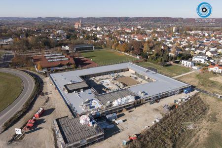 Luftaufnahme Neubau der Montessori Schule